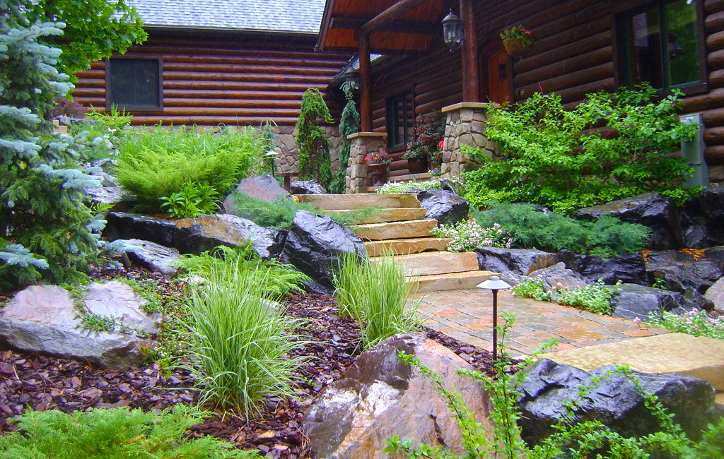 Custom landscaping home custom landscaping for Home garden landscape designs