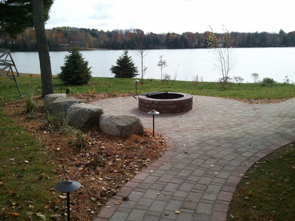 Circle Pavers and Fire Ring