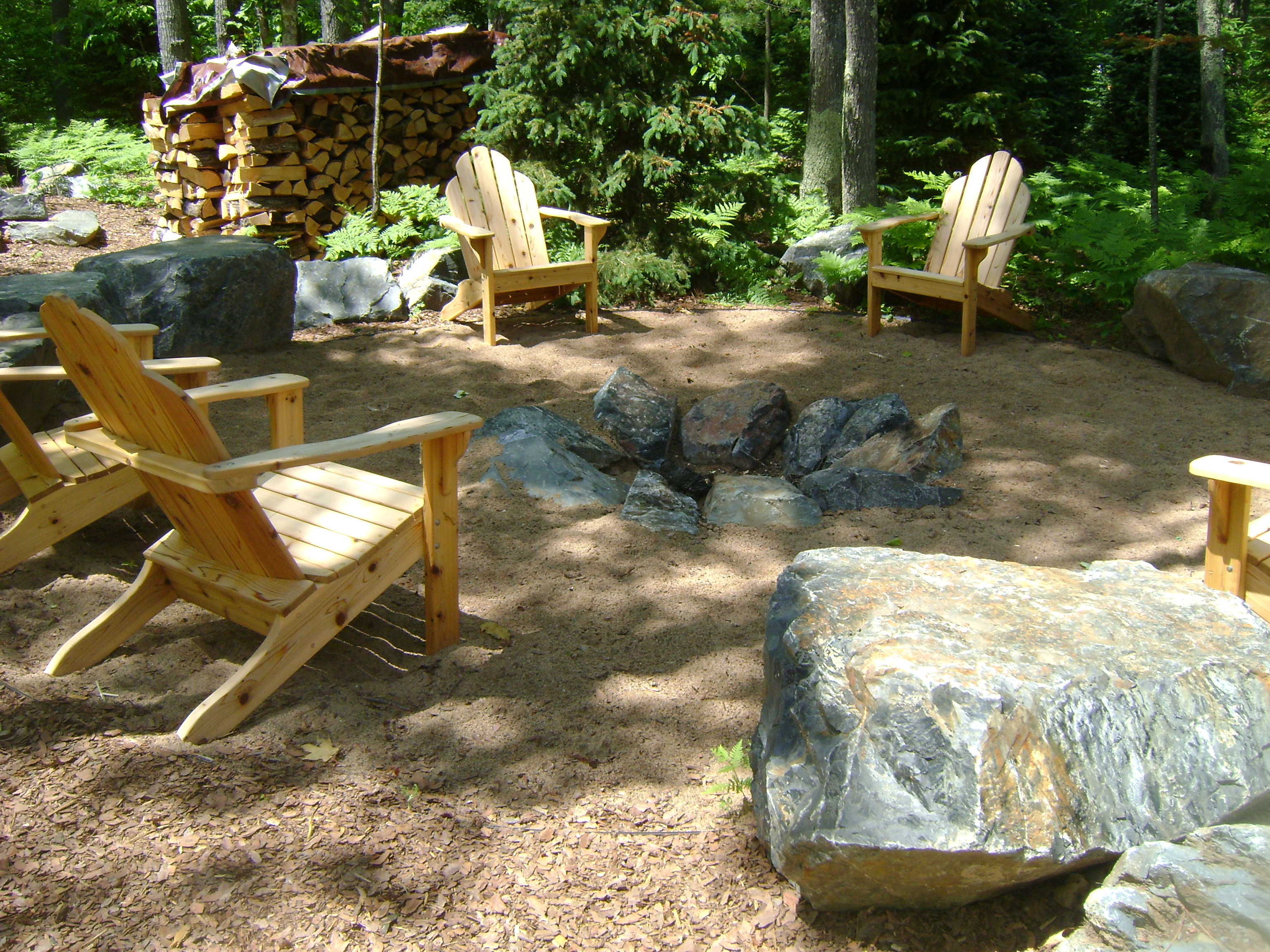 Fire features gallery custom landscaping for Custom landscaping