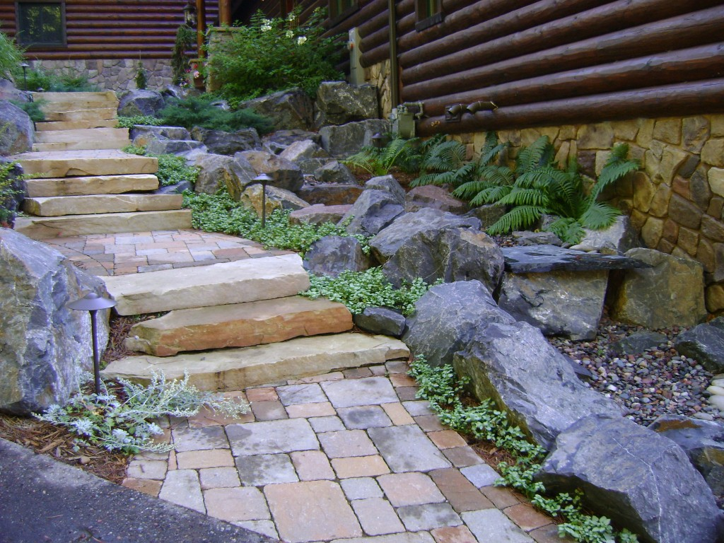 Walkways Steps Amp Stairs Gallery Custom Landscaping