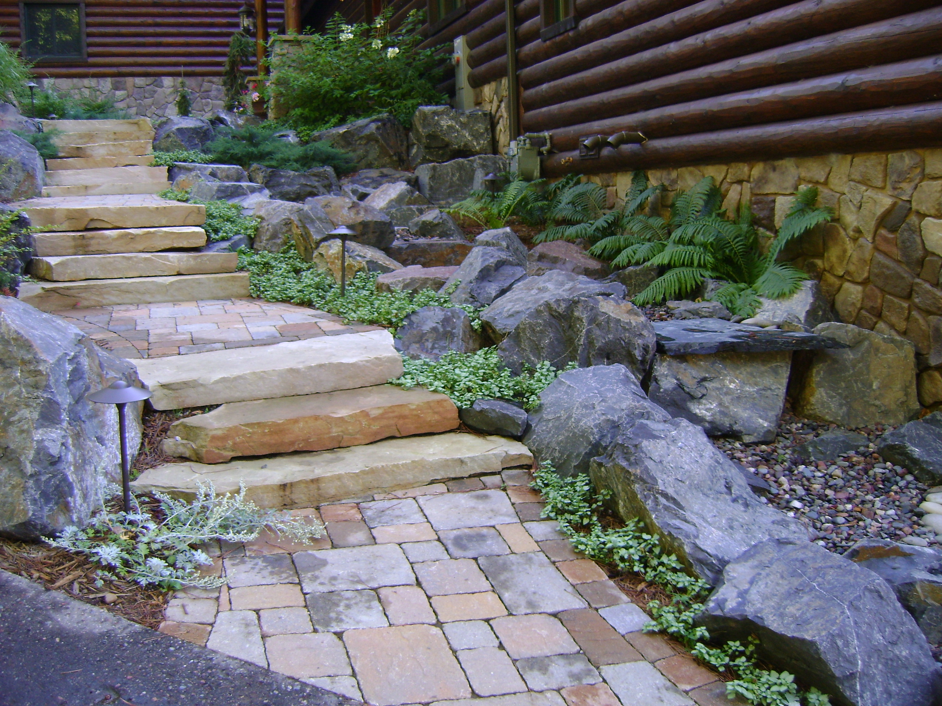 Walkways steps stairs gallery custom landscaping for Custom landscaping