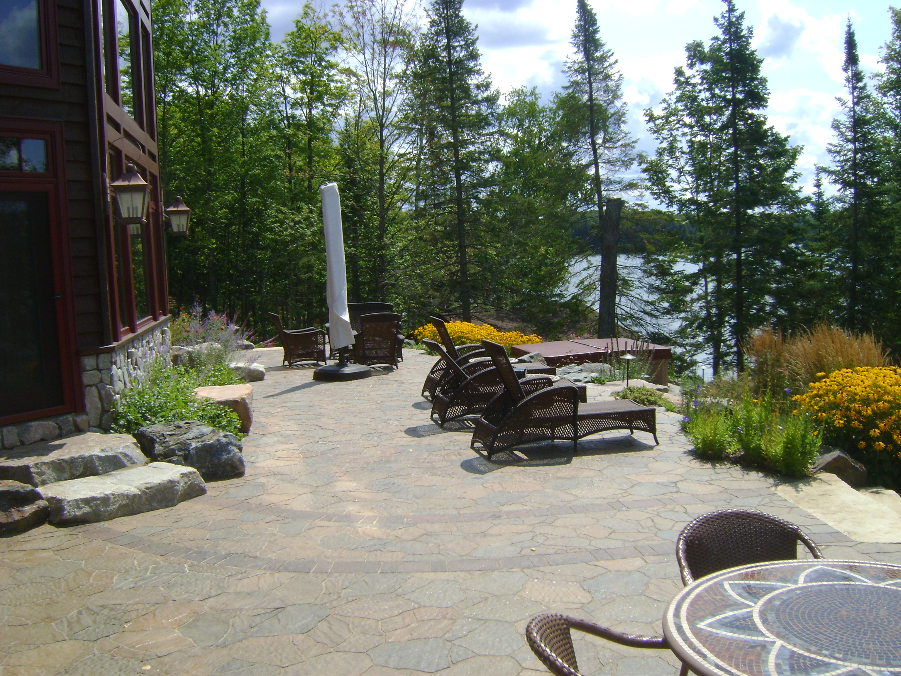 Outdoor living gallery custom landscaping for Outside landscape