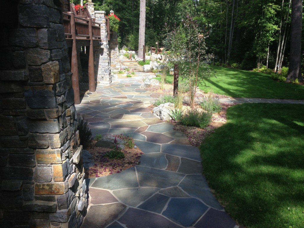 Colorful Flagstone Walkway