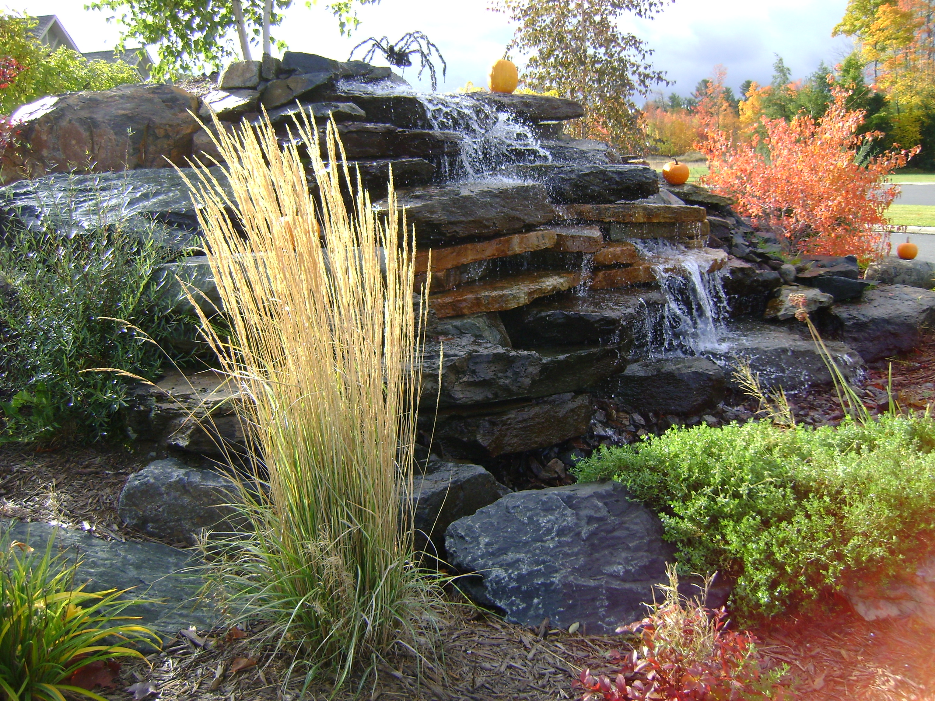 Stacked stone water feature - Pondless Water Feature Unique Stacked Stone Waterfall