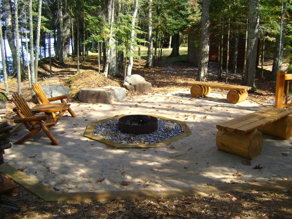 Metal Fire Ring and Sand Surround
