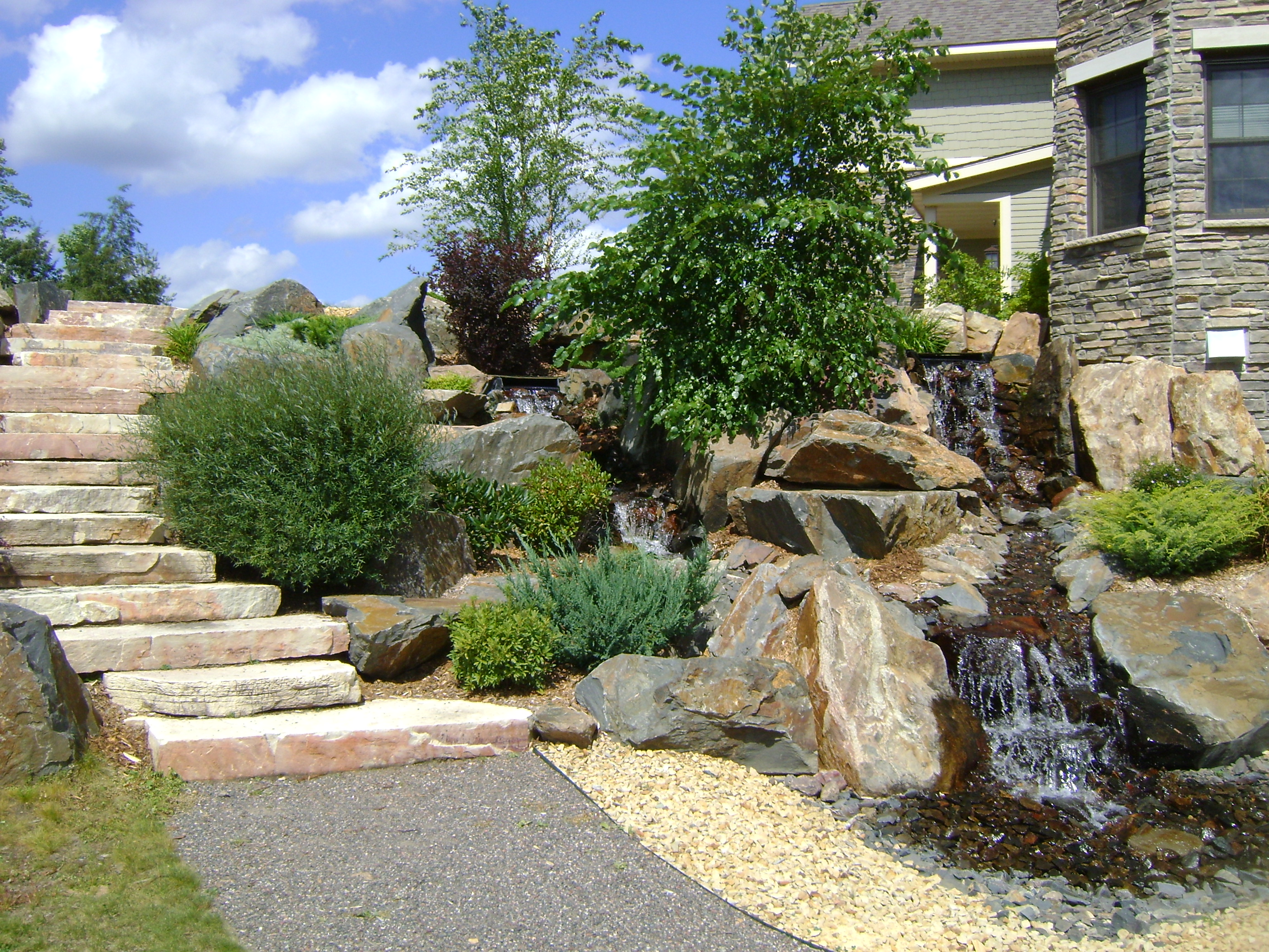 Water features gallery custom landscaping for Custom landscaping