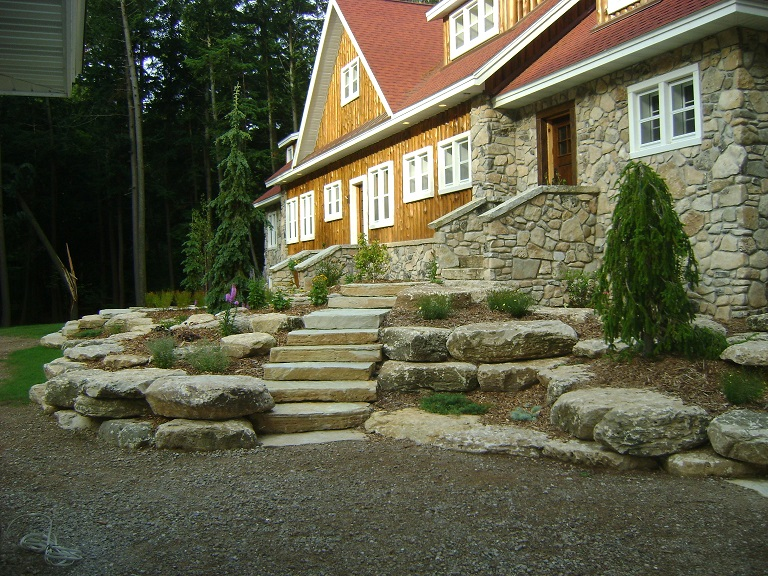 Weather Edge Stairs and Boulders